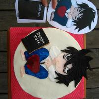 Death Note Lawliet L Birthday Cake This was for a friend whose sister was turning 13 and totally loves japanese anime, especially the show Death Note and this is her favorite...