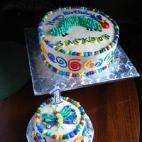 Very Hungry Caterpillar Birthday Cake This was for my nephew's first birthday. His mom's favorite childhood book was the Very Hungry Caterpillar so I purchased a book...