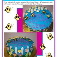 Bumblebee Birthday Cake Made this cake for my assistant's birthday. Turned out well.