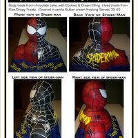 Spider-Man 3D Cake Thank you to all those on CC for the insiration and instructions for this one.See picture for cake description.