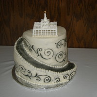 Temple Cake  My first time trying anything like this. I made it for a church activity for the young women. My husband helped me carve it and I got the...
