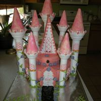 Pink Castle Birthday Cake  This is the castle cake I made for my daughters birthday. So many things happened that weekend when I was suppose to make it that I didn&#...