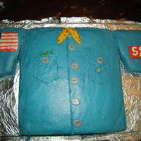 Scout Shirt My 9 year old son made this scout shirt cake for a cake decorating contest for scouts. He did most of it by himself, while I looked over...