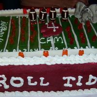 Alabama Roll Tide Cake This cake the reason I now own an airbrush.The crimson red icing was so hard to achieve.The elephant I made out of fondant.The 4 year old...