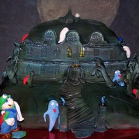 Marios Spooky House From the Mario Game the Haunted house