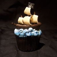 Pirate Cupcake   I made this for a challenge in the Flickr group Flickr Bake-off