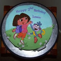 Dora The Explora Buttercream transfer