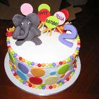 Elephants And Polka Dots   Chocolate cake iced in buttercream, Everything else is marshmallow fondant.