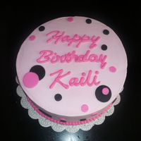 Kaili's B-Day Cake chocolate wasc cake w/ vanilla buttercream.
