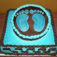 Feet Baby Shower Cake