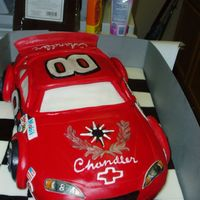 Dale Jr Car This is big race car cake. I carved it from a half sheet, to feed about 50.