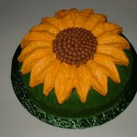 Sunflower Cake made from a bundt pan...for a very special friend...