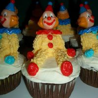 Clown Cup Cakes I did these for my son's 5th birthday for his preschool class. The kids loved them!