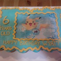 Pokemon just an edible image on cupcakes