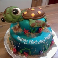 Squirt Fondant covered cake. Way fun.