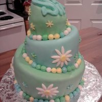 Topsy Turvey   Simple cake covered in mmf