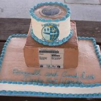 Squadron Bbq I made this cake for our sSquadron BBQ. We move cargo so the middle was suppose to look like a box. The top is red velvet w/ cc, the middle...