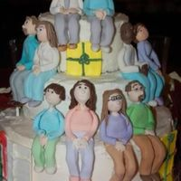 Christmas Party Cake I made this cake for our christmas party at church. The models are all the prople who sat at my table. We had a blast!