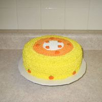 Candy Corn Cake  This is the picture of the cake that Wilton has out for halloween.It was fun.It said to use tip 16 but I found that it was to small so I...