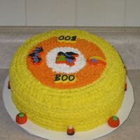 Candy Corn Cake This is a checkerboard cake I did for work,with chocolate filling.Fun to do.