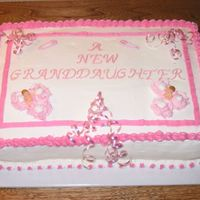 Cake For A Secretary Where my husband works a secretary had her first granddaughter so though I would make a cake.It's 0 degrees where I live so baking was...