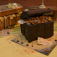 Pirate Treasure Chest Treasure-chest cake for a pirate-themed birthday party.Toasted Coconut Cake with Pineapple Filling; Dark Chocolate Cake with Dulce de Leche...