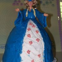 Doll Cake This is my first doll cake. I made it for my friend's oldest daughter's high school graduation party. It is covered in RBC/...