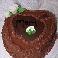 Heart Birthday I made this cake for my neighbors son to give to his mom for her b-day.