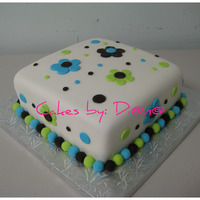 Birthday Cake Cake I did in class, all fondant! Thanks for looking!