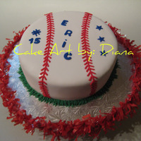 Baseball Cake All fondant, the stitches were done one by one....TFL!