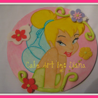 Tinkerbelle Sugar Plaque This is a sugar plaque, hand painted. Once is finished you can put it on any cake and just decorate the sides. I took this class with a...