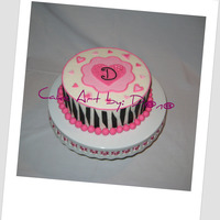 Birthday Cake Birthday Cake, my first try at the zebra. All fondant...practice, practice! ;o)
