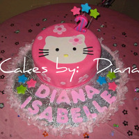 Hello Kitty Cake This was for my daughter's 2nd Birthday! I love Hello Kitty!! All decorations are fondant. Thanks for looking ;)
