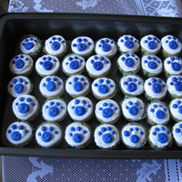 Blue's Clues Nothing will complete a Blue's Clues cake like paw print cup cakes!