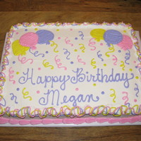 Megan's Cake I did this for a friend of mine's daughter. I am tickled pink when she asks me to do her cake every year, around Feb. 1! Yes, I know I...