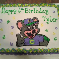 Tyler's Birthday Cake As you might have guessed, my nephew had a Chuck E. Cheese party. I heard it was a hit!