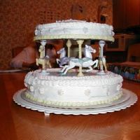 Carousel Cake This is the second cake I ever made. It was for my youngest daughters 2nd birthday. I must have turned my wrist or something because my...