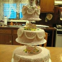 First Communion Cake This was for my God daughters First Communion last Sunday. Bottom border went on during final setup. The flowers are gumpaste, ordered of...