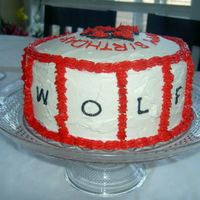 Nc State Wolfpack Cake-Side View