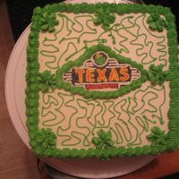 My 1St Fbct And Cornelia Lace! This cake was my 1st FBCT! and my 1st Cornelia lace(spelling). It was a FBCT of the Texas Roadhouse resteraunt emblem. The cake has a top...