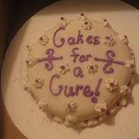 Another Cake For The Relay For Life Bake Sale Fondant covered cake with BC accents!