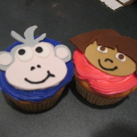 Dora Boots dora and boots cupcake.