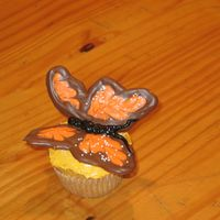 Butterfly cupcake with chocolate butterfly