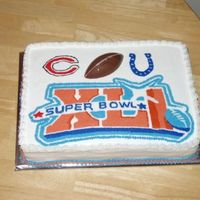 Super Bowl Cake I did this for a chinese auction. I was pretty happy with it. Hoping it will be a hit!