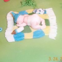 Dcp05696.jpg Fondant baby on blanket with toys & puppy
