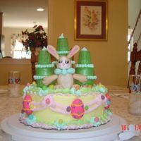 Easter Bunny Castle Cake Made this cake for my family this Easter. It was one of my first. The bunny is fondant. The rest is butter cream and candy decorations. I...