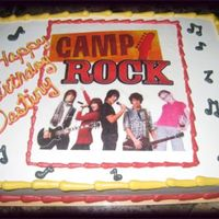Camp Rock This isa edible image that I put on the cake, if you notice to the right I added the birthday girl to the band. They loved it