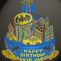 Batman All decoration are made of mmf. Action figure on top of cake