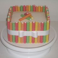 Fruit Loop Straw Cake I saw these Fruit Loop straws in the cereal aisle at Walmart, and immediately thought they would make a great take on the pirouette cake. I...