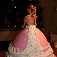 Back Of The Princess Cake this is the way I covered the ugly back of the doll: with icing flowers